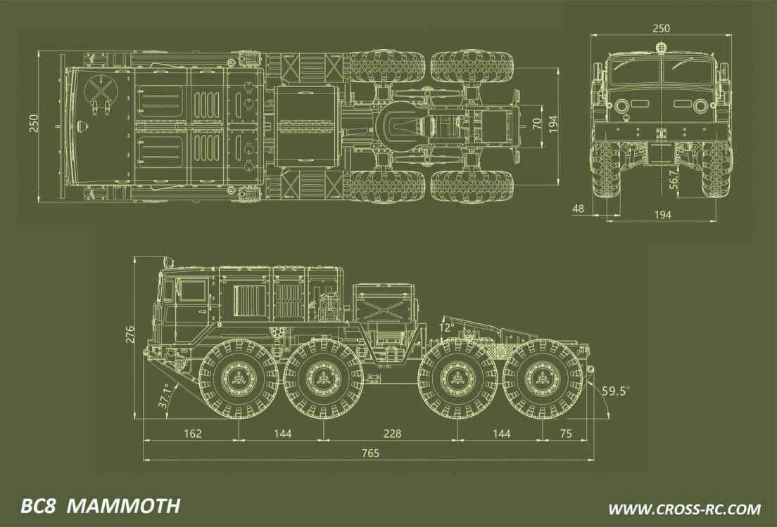 Lili Modellbau Cross Rc Truck Kit Bc8 Mammoth Flagship Version Wiring Diagram