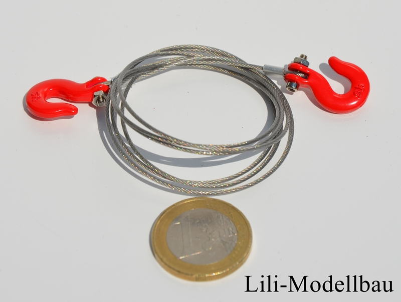 Lili-Modellbau - Stahlseil mit 2 Haken